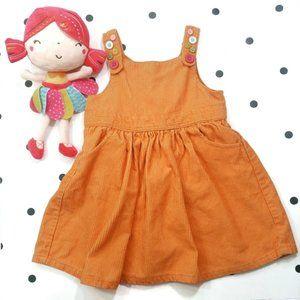 Gymboree Corduroy Orange Jumper Dress size 18-24